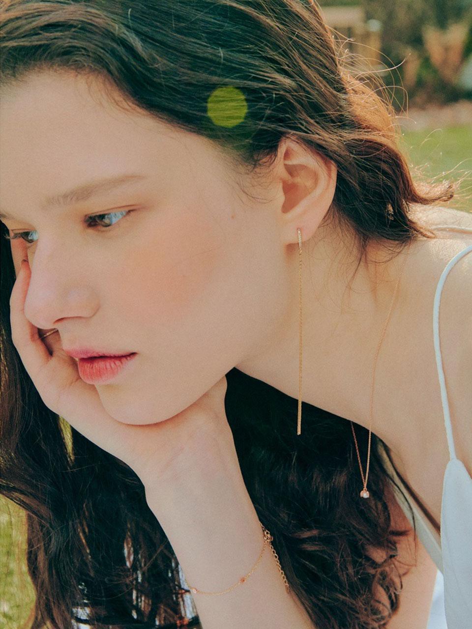 DIA TASSEL EARRING(1EA)  | 엘쁘