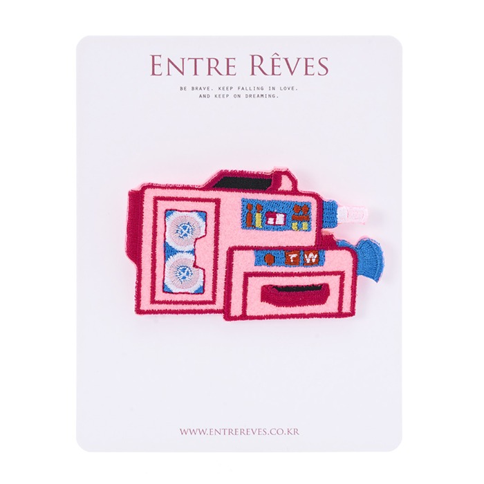 PINK CAMERA PATCH - Entre Reves