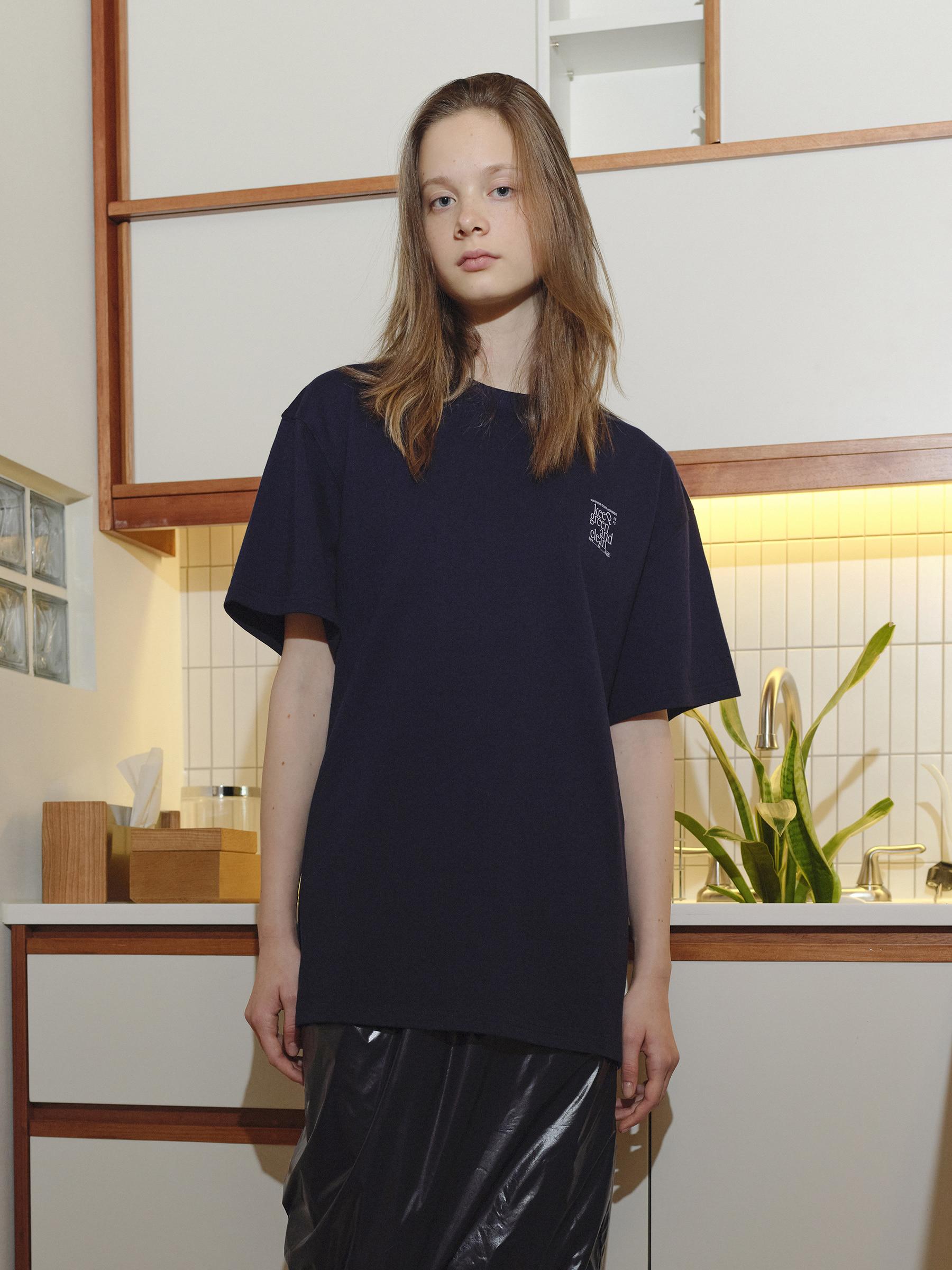 킵 그린 앤 클린 티셔츠 (Navy)