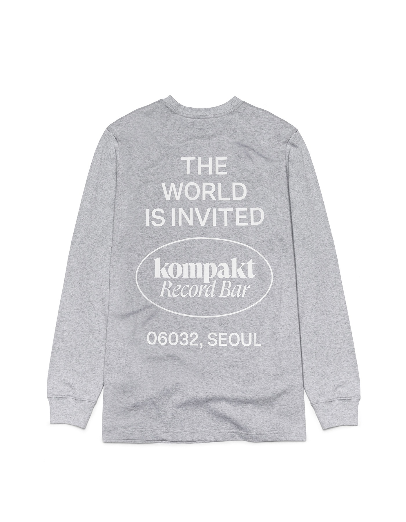 The World Is Invited L/S - Grey/White