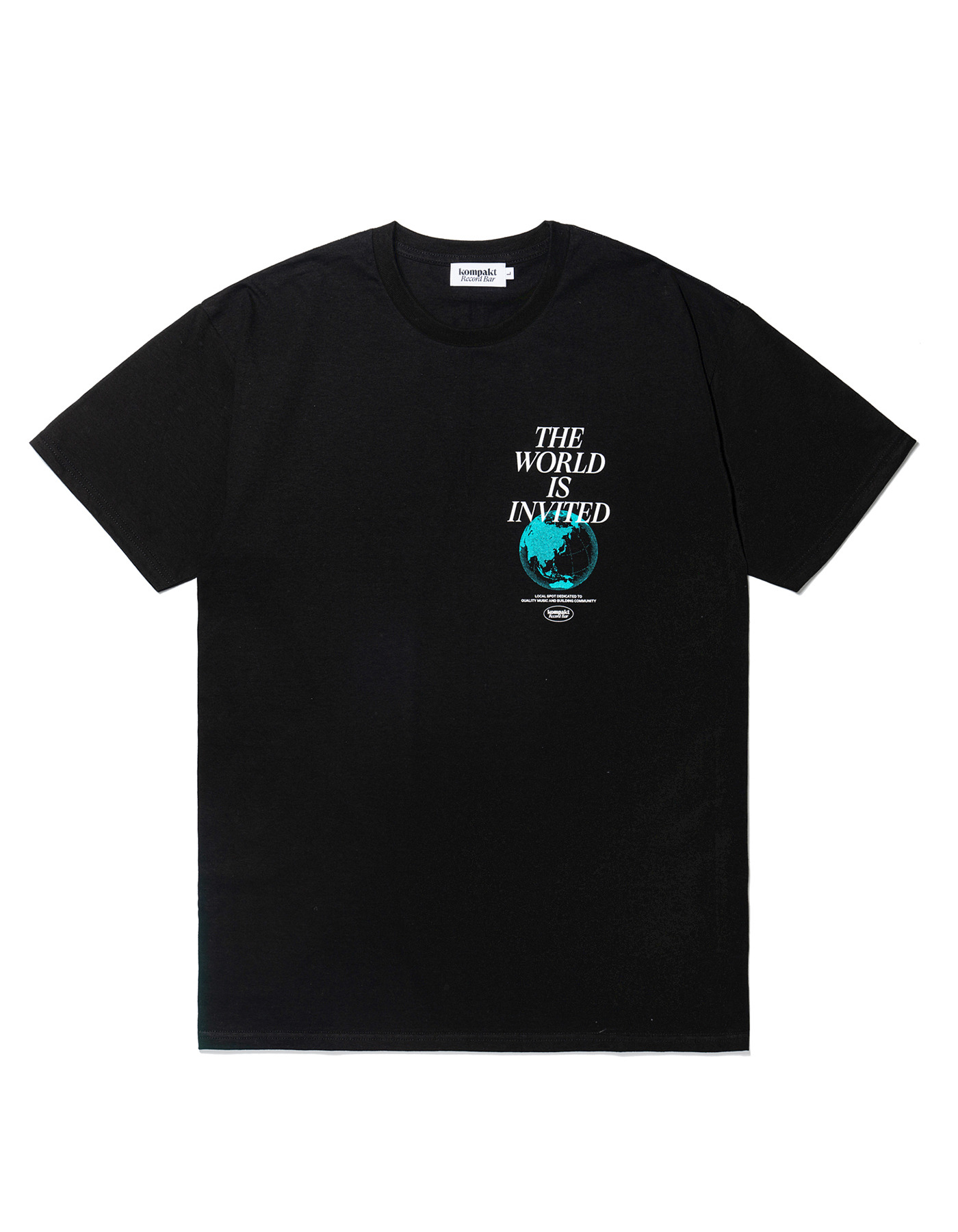 The World Is Invited T-shirts  - Black
