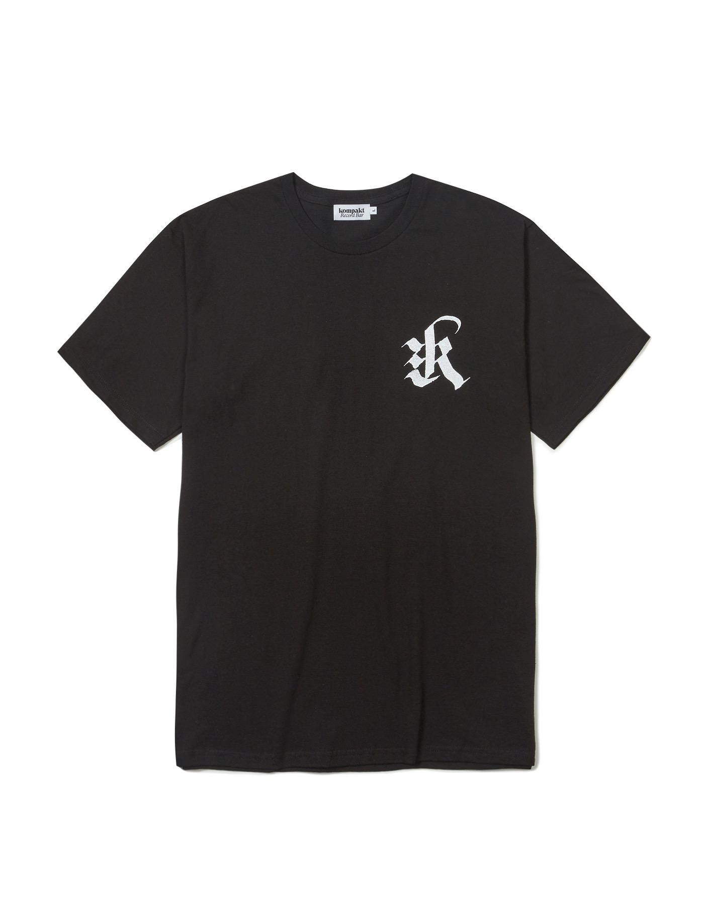 "Black Letter ""K"" T-shirts - Black/White"