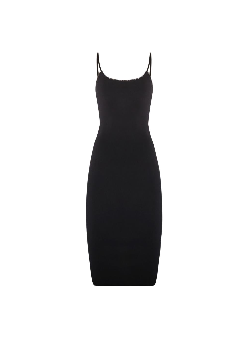 에고 레이시 미디 드레스 - 블랙