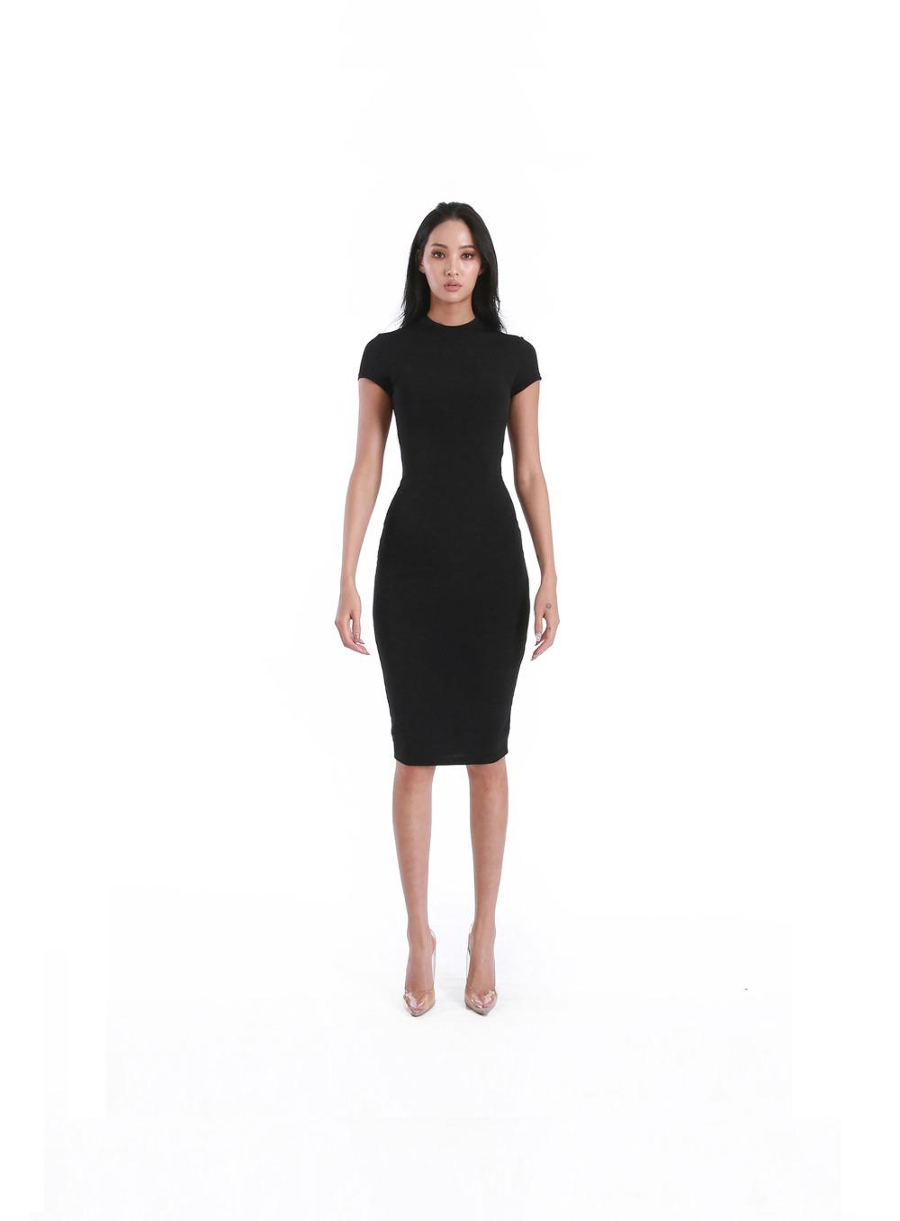 LAWRENCE DRESS - BLACK 로렌스 드레스