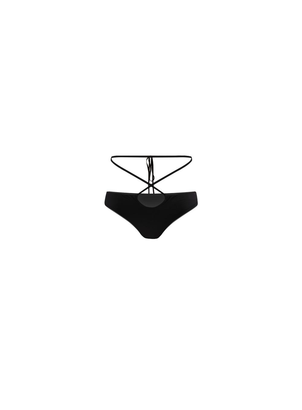 에고 레이스업 비키니 BOTTOM (로우라이즈) - 블랙