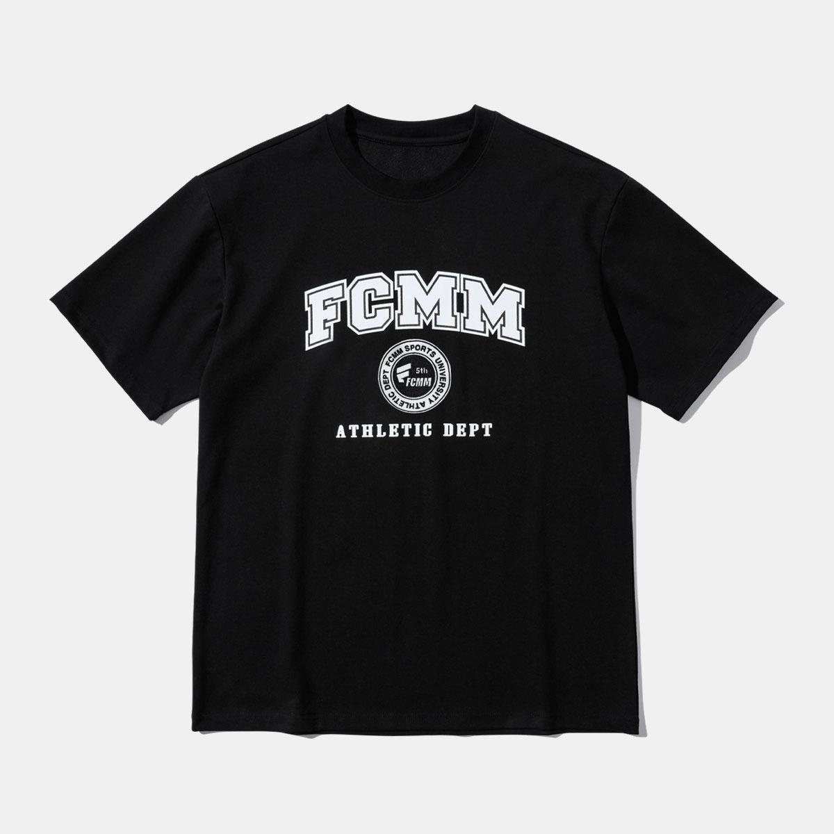 어슬레틱 바시티 로고 티셔츠 - 블랙
