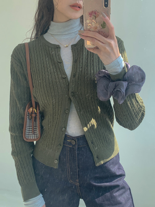 FRUITS TWIST KNIT ROUND CARDIGAN(13COLORS!)