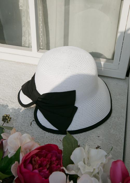 RIBBON HAT(WHITE, CAMEL 2COLORS!)