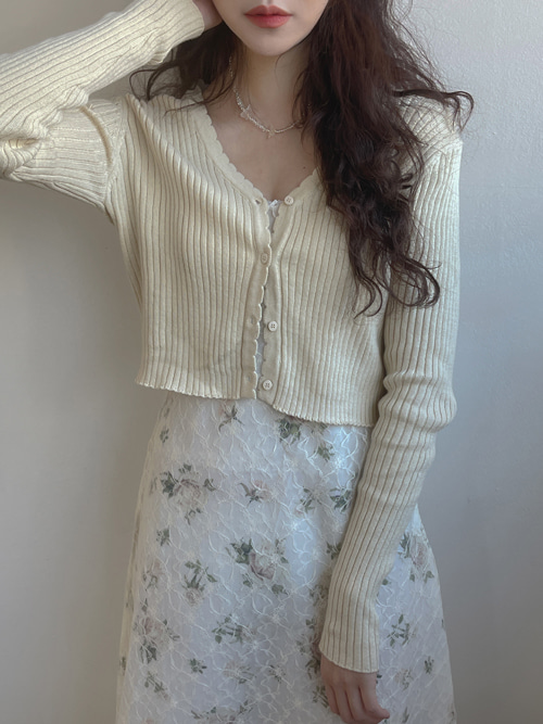 WAVE SLIM KNIT CARDIGAN(YELLOW, GREEN 2COLORS!)