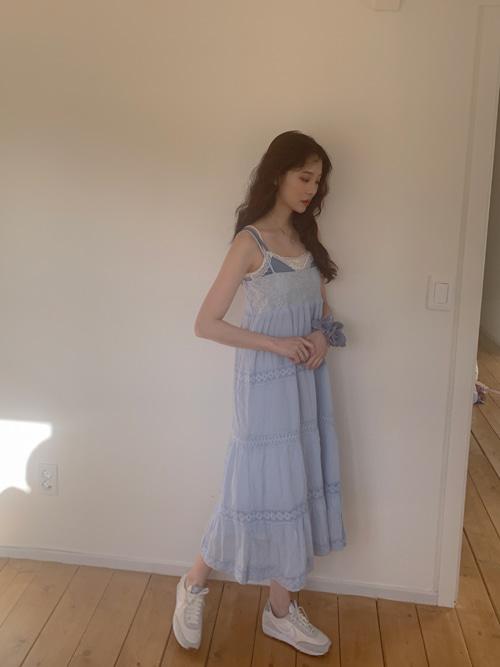 NINA LACE EMBROIDERY SMOCKED DRESS(IVORY, BEIGE, SKYBLUE 3COLORS!)