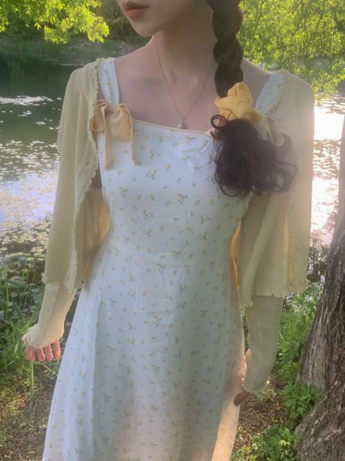 LAYLA TWIN RIBBON DRESS(IVORY, PINK, GREEN 3COLORS!)