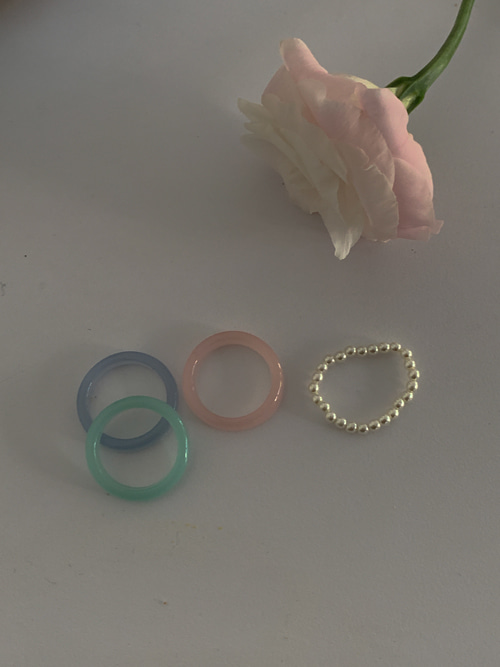 SALLY PASTEL COLOR RING(2TYPES!)