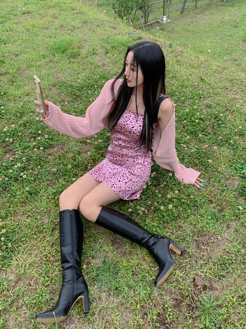 VALENTINA PINK SILKY MINI SLIP DRESS