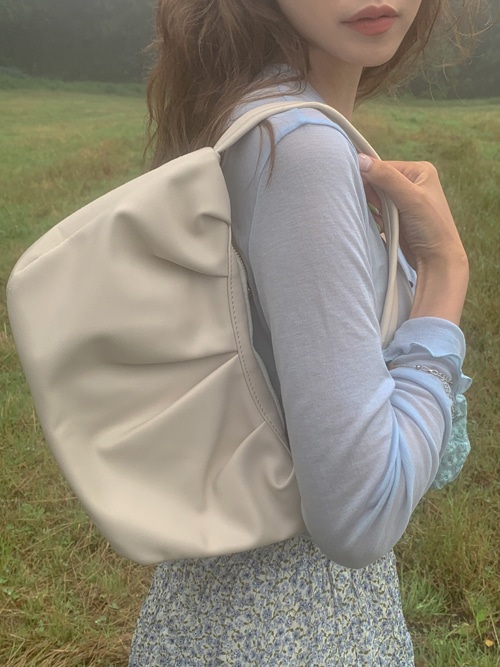 MEADOW WRINKLE SHOULDER BAG(IVORY, YELLOW 2COLORS!)