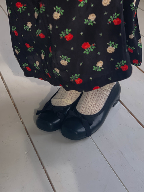 BABY ROUND RIBBON SHOES