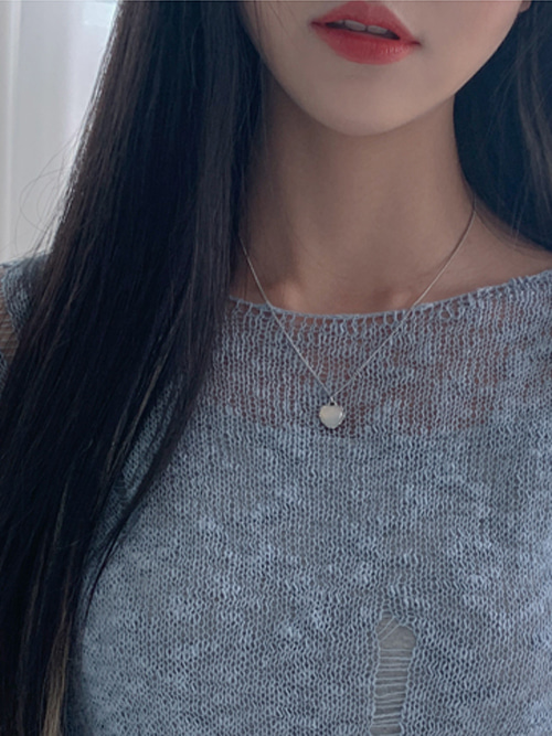 NEPTUNE GLOSSY PANDENT NECKLACE(WHITE, PINK 2COLORS!)