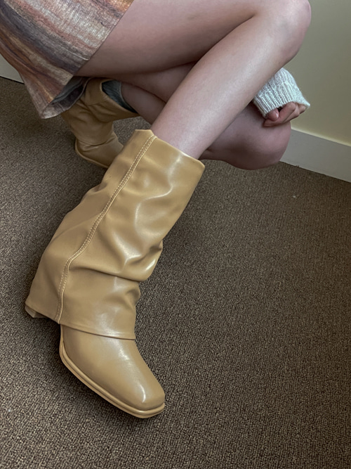 SQUARE WARMER 2WAY BOOTS(BEIGE, BROWN, BLACK 3COLORS!)