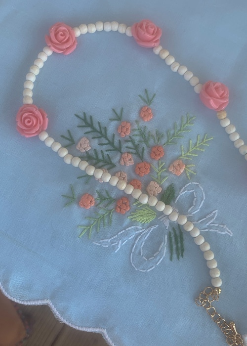 EMMA ROSE NECKLACE(PINK, RED 2COLORS!)