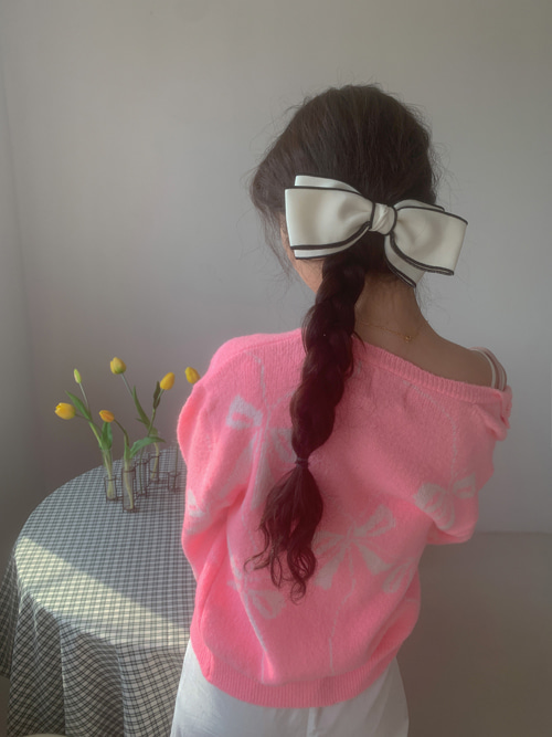 LINE HAIR PIN(IVORY, BLACK 2COLORS!)