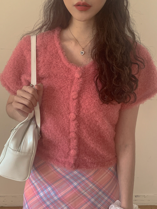 SOFT POM KNIT CARDIGAN(IVORY, YELLOW, PINK 3COLORS!)