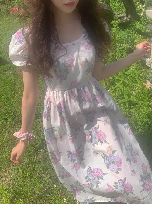 AURORA PUFF SLEEVE ROMANTIC DRESS(WHITE, IVORY 2COLORS!)