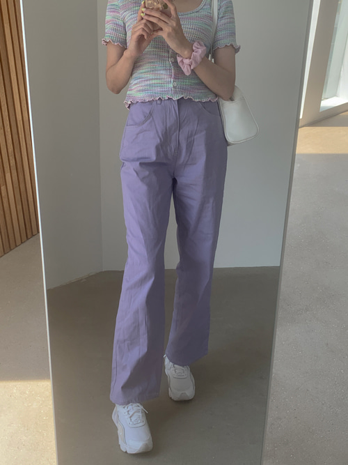 JUPITER BASIC COLOR PANTS(YELLOW, PINK, RED, PURPLE 4COLORS!)