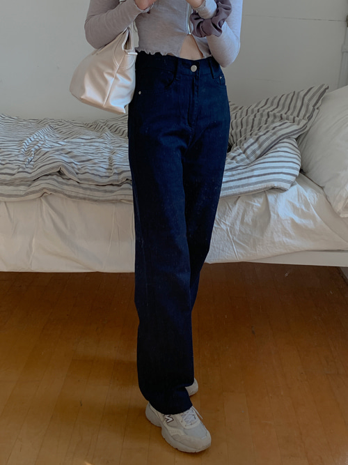 COTTON STRAIGHT PANTS(IVORY, LIGHT WASH, NAVY 3COLORS!)
