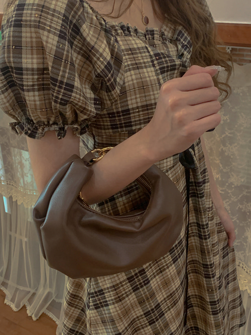 LEATHER ROUND MINI BAG(IVORY, BEIGE, BROWN, BLACK 4COLORS!)