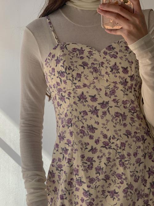 CORDUROY FLEUR SLIP DRESS(PINK, PURPLE, BROWN, BLACK 4COLORS!)