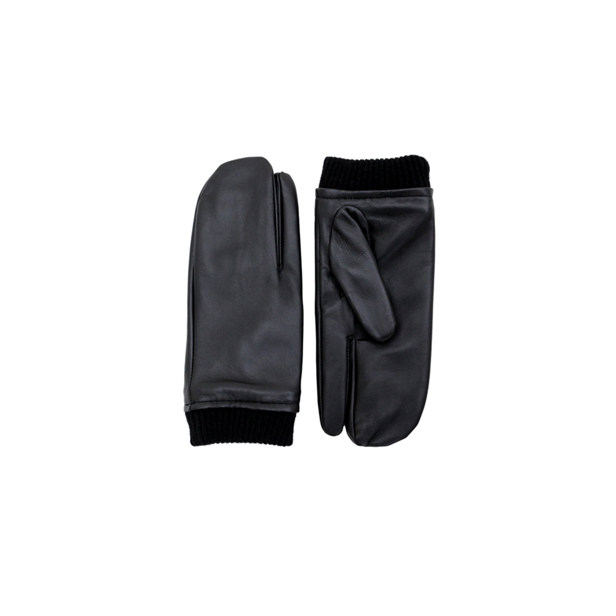 [DISCONTINUE] LEATHER TIMI GLOVES - BLACK