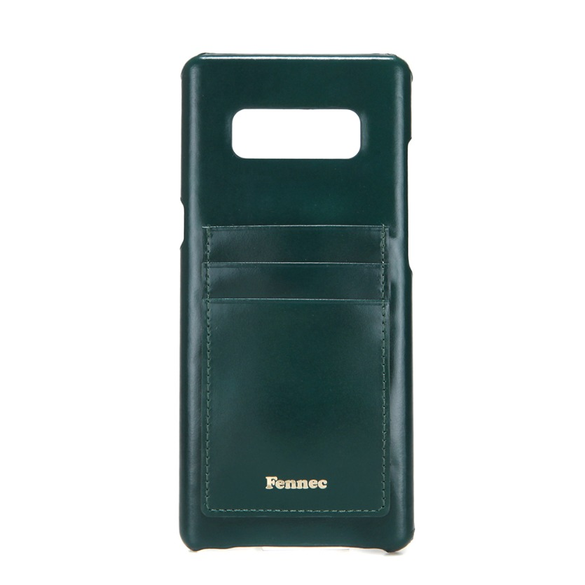 [DISCONTINUE] LEATHER NOTE 8 CARD CASE - MOSS GREEN