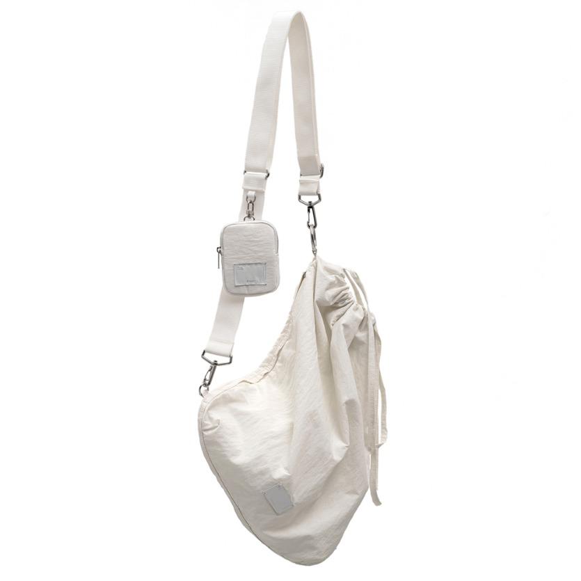 FABRIC SLING BAG - WHITE