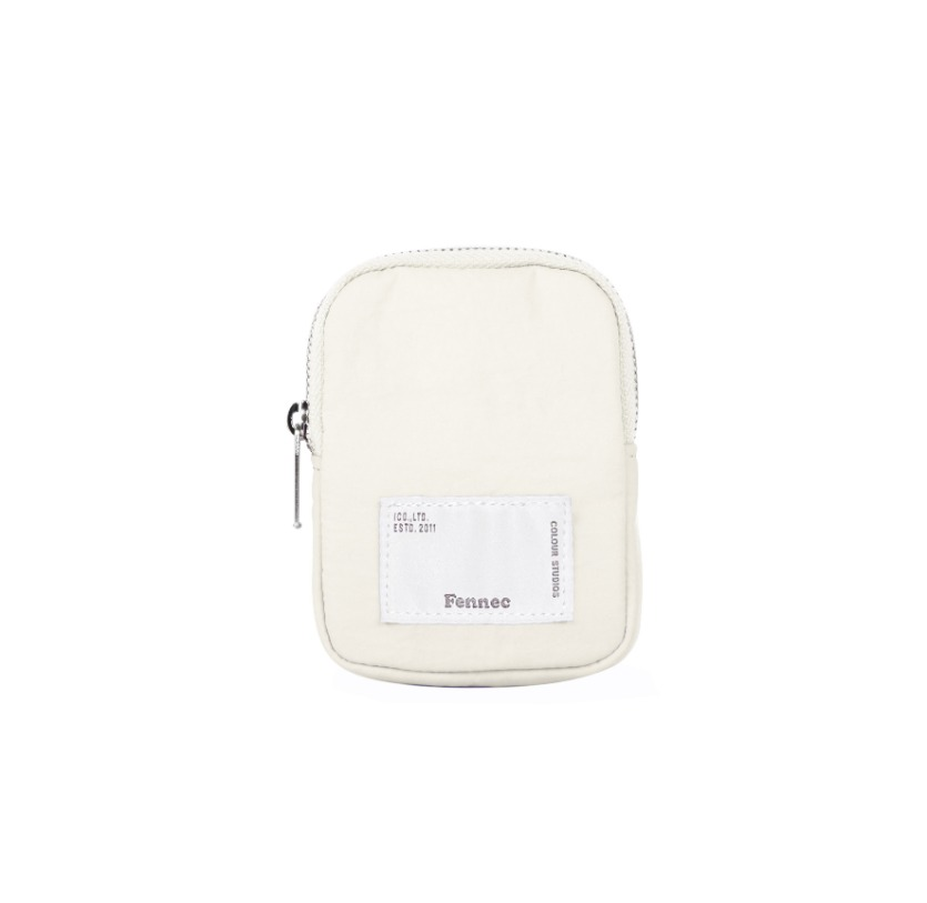 FABRIC SLING BAG POCKET - WHITE