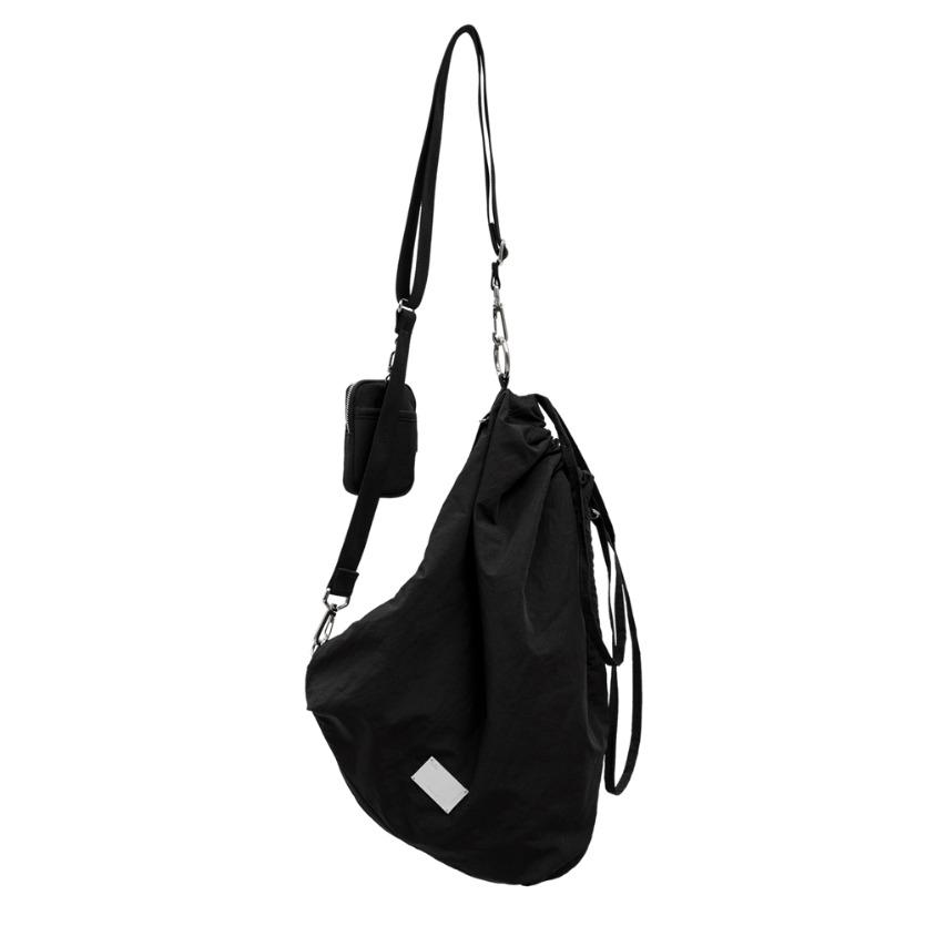 FABRIC SLING BAG - BLACK