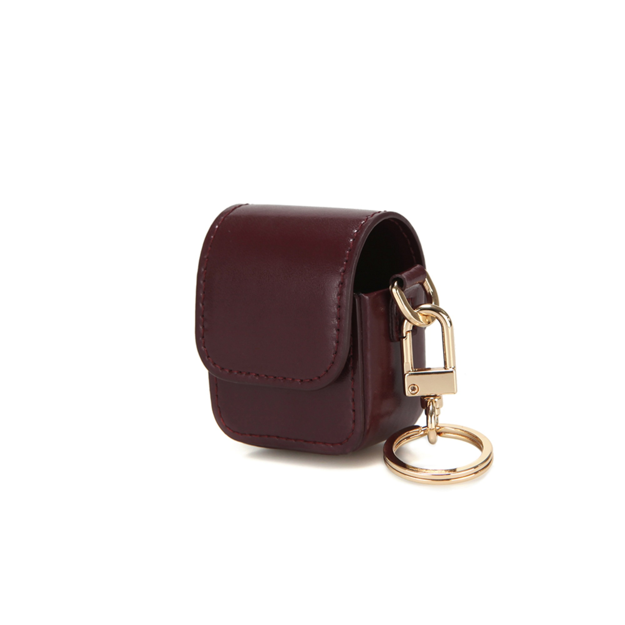 LEATHER AIRPODS CASE - WINE