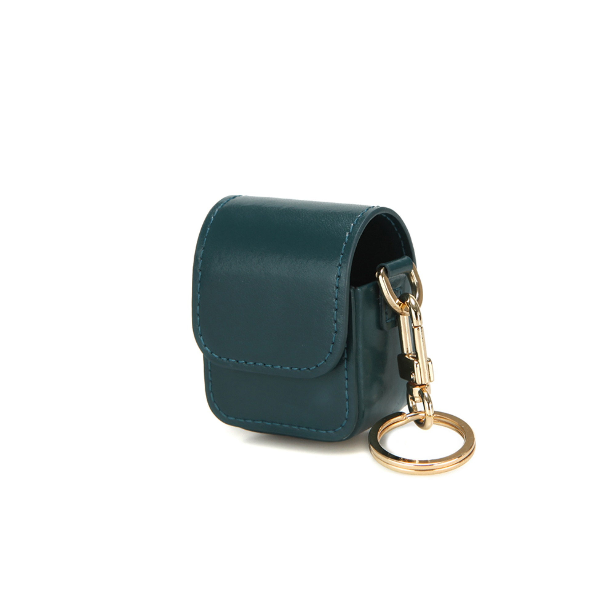 LEATHER AIRPODS CASE - MOSS GREEN