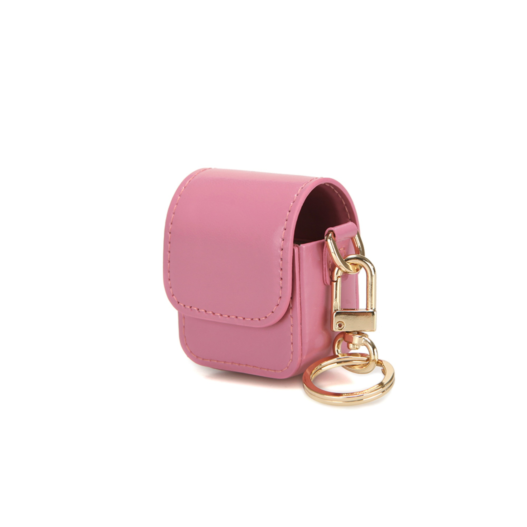 LEATHER AIRPODS CASE - ROSE PINK