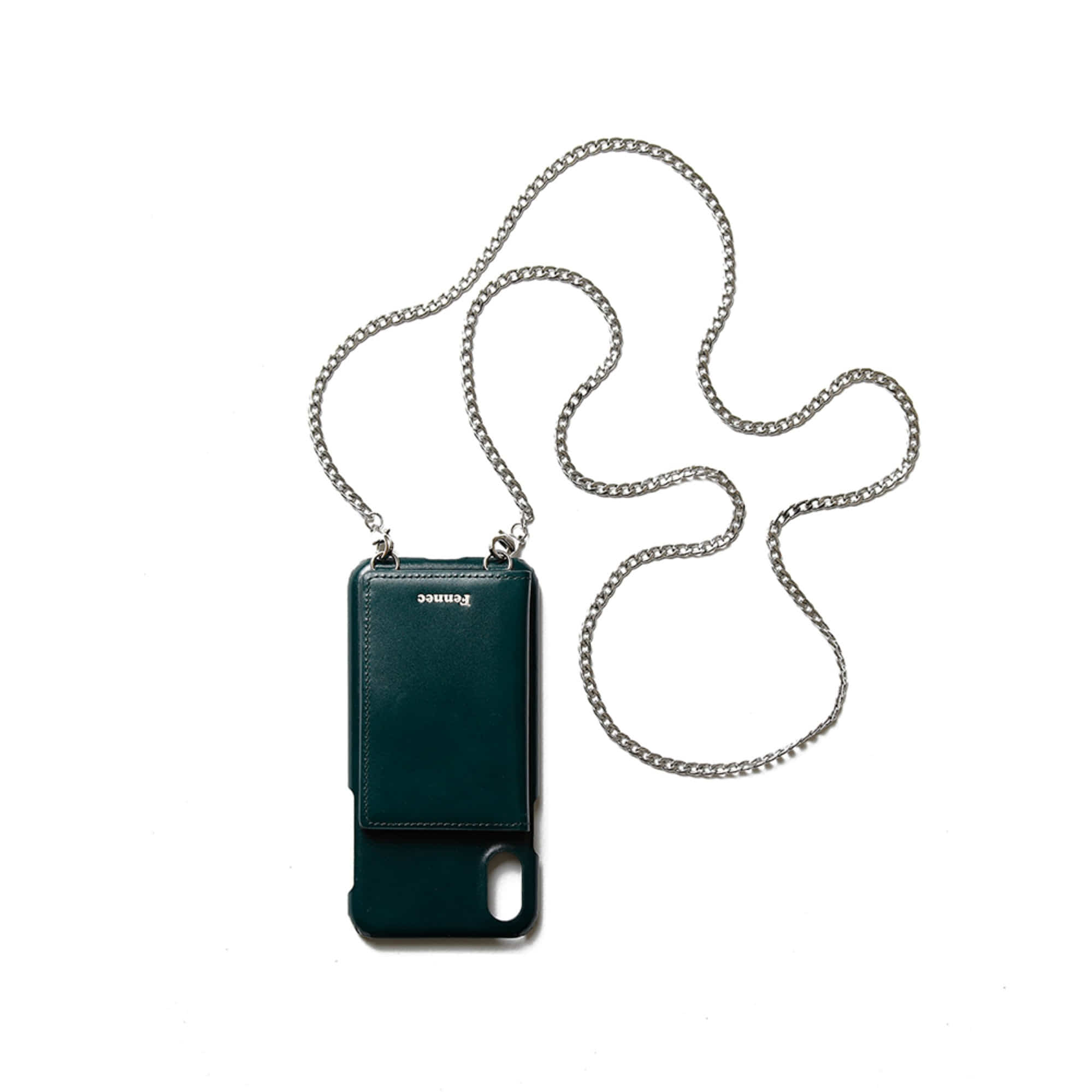 [DISCONTINUE] LEATHER iPHONE X/XS STRAP POCKET CASE - MOSS GREEN