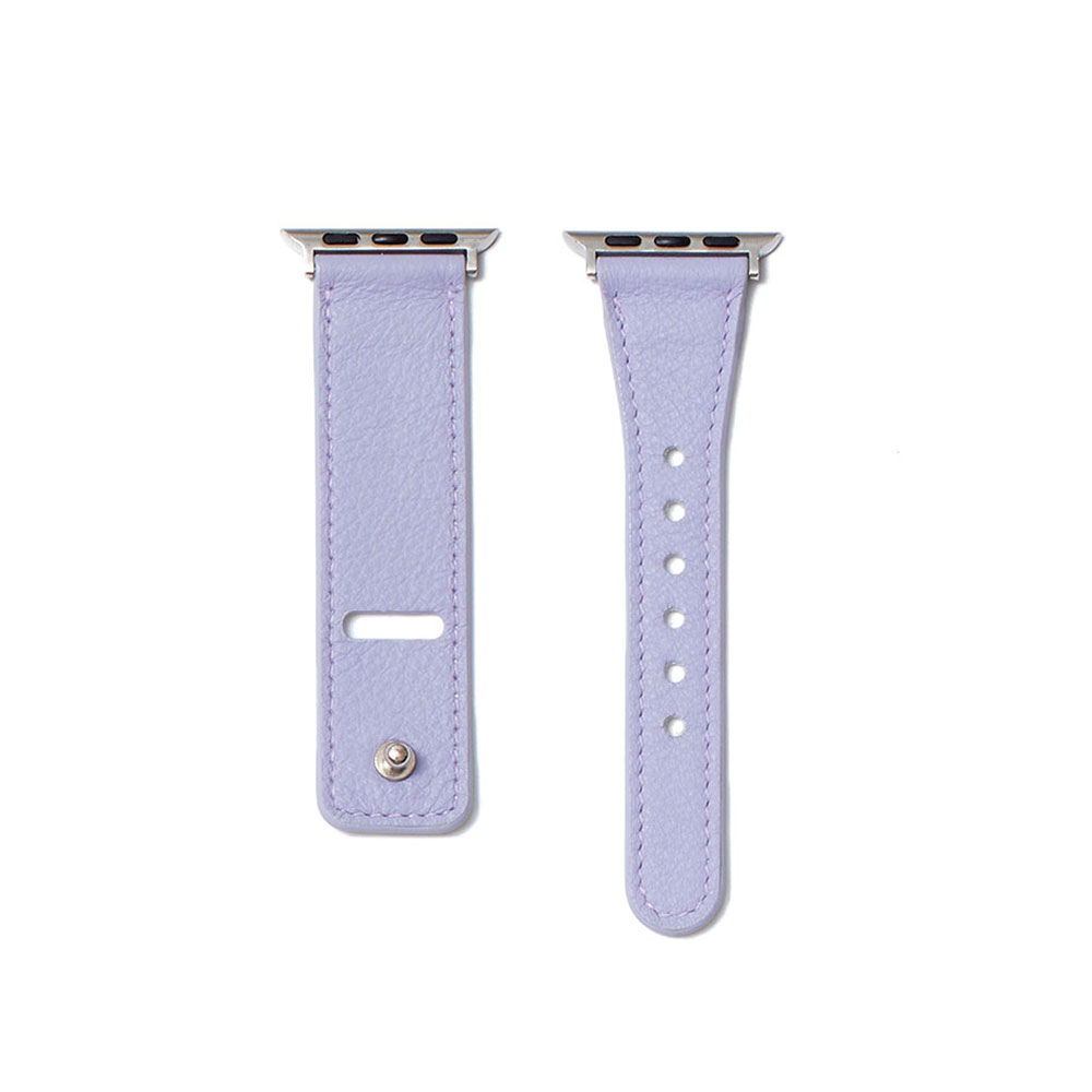 [21FW]LEATHER APPLE WATCH 40mm STRAP - LAVENDER