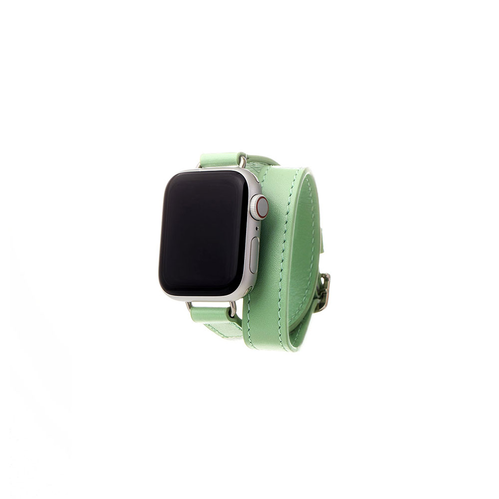 [21FW]LEATHER APPLE WATCH 40mm DOUBLE STRAP - MINT