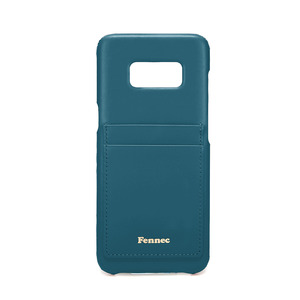 [DISCONTINUE] LEATHER GALAXY S8 CARD CASE - SEAGREEN
