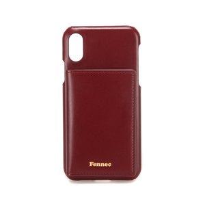 (SCRATCH SALE) LEATHER iPHONE X/XS POCKET CASE - WINE
