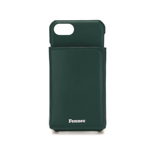 [DISCONTINUE] LEATHER iPHONE 7/8 TRIPLE POCKET CASE - MOSS GREEN