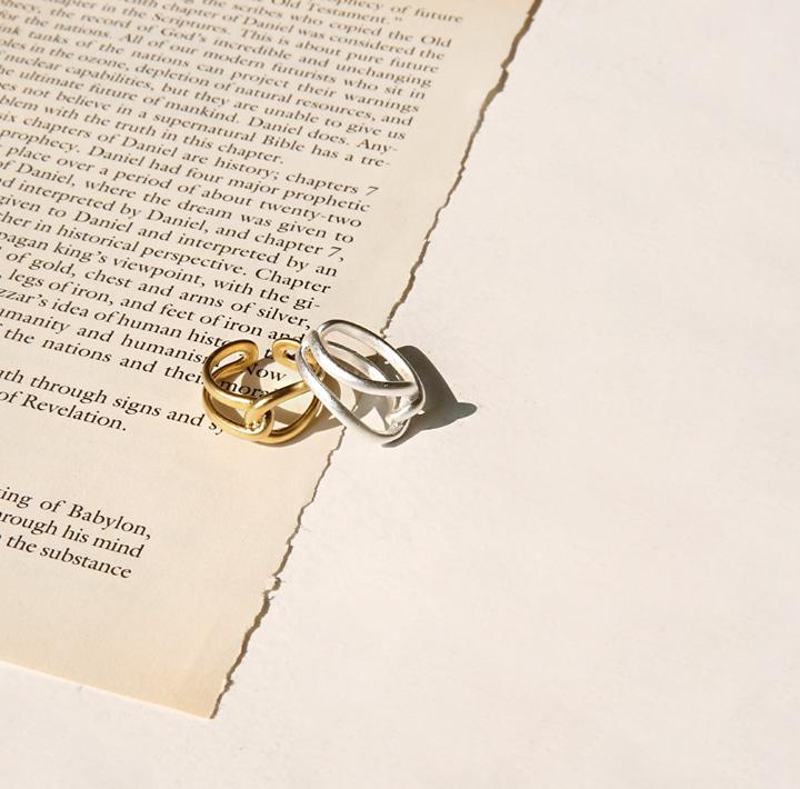 [JEWELRY] NELL TWIST CIRCLE BOLD RING