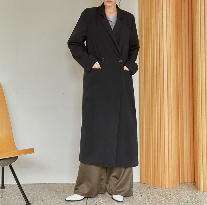 [OUTER] BRENTO DOUBLE LONG COAT