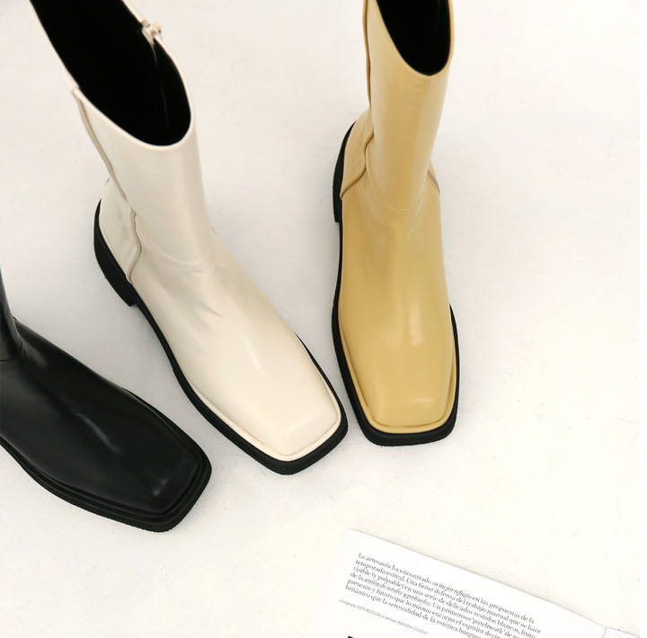 [SHOES] FODY SQUARE MIDDLE BOOTS