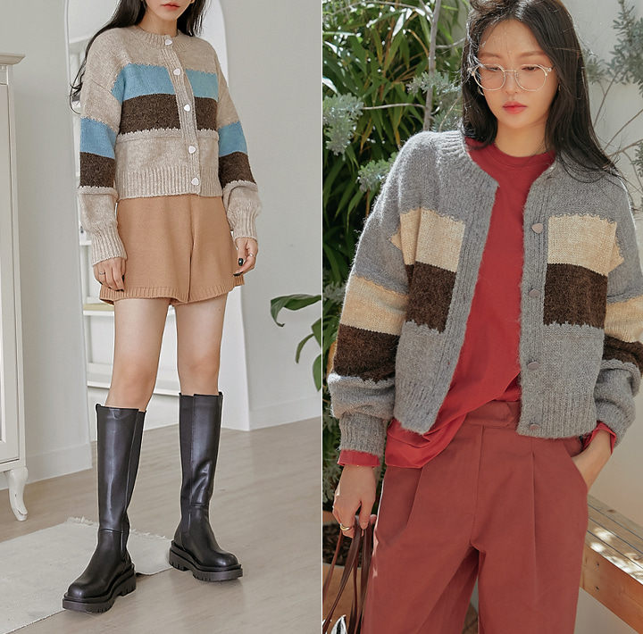 [OUTER] MUTO WARM COLORING KNIT CARDIGAN