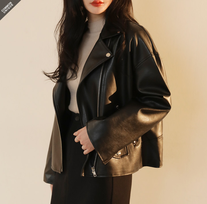 [OUTER] MODISH LOOSE FIT RIDER JACKET