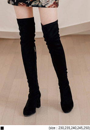 [SHOES] MATTE SUEDE HIGH BOOTS