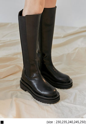 [SHOES] ROUND CHUNKY LONG BOOTS